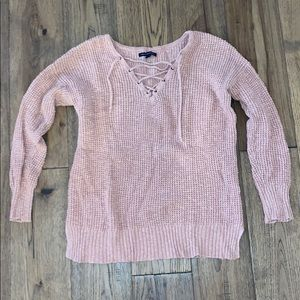 American Eagle Tied Front Sweater